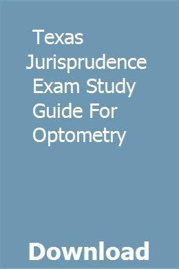 Optometry Jurisprudence Examination Study Guide