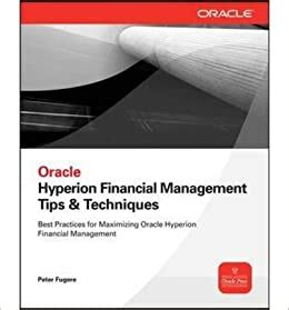Oracle Hyperion Financial Management Tips Techniquesdesign Implementation Support Design Implementation Amp Support Oracle Press