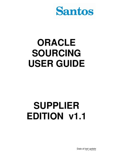Oracle Sourcing Supplier Guide
