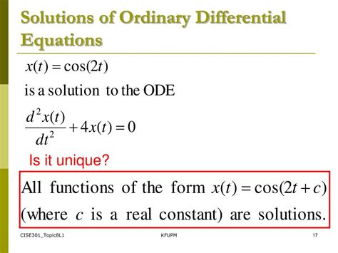 Ordinary Differential Equations Student Solution Manual