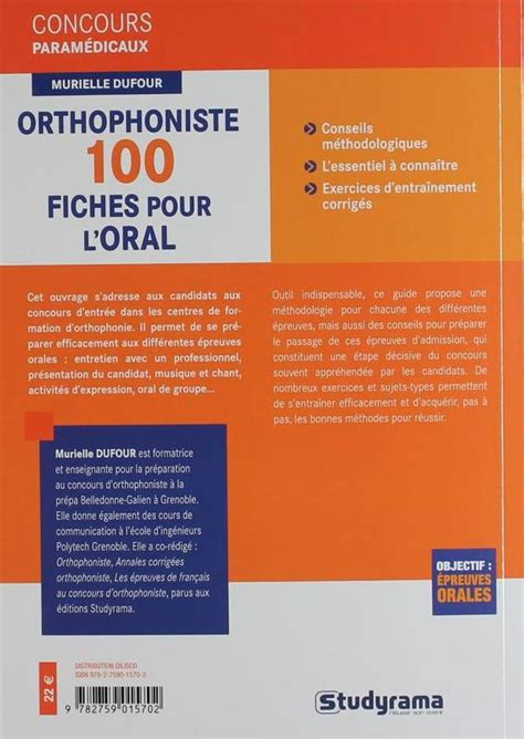 Orthophoniste 100 Fiches Pour Loral