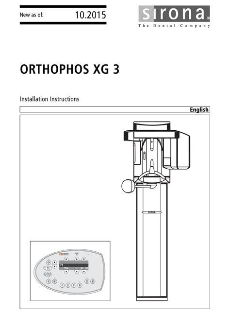 Orthophos 3 Installation Manual