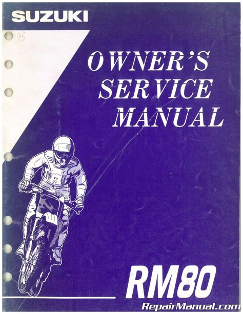 Owner Manual For A 1996 Suzuki Rm80