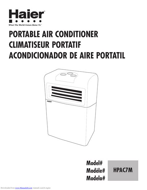 Owner Manual Haier Hwr06xc6 Room Air Conditioner
