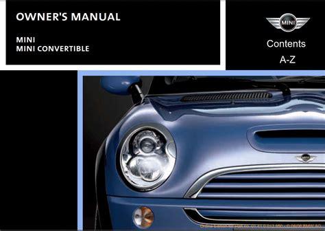 Owner Manual Mini Cooper Convertible