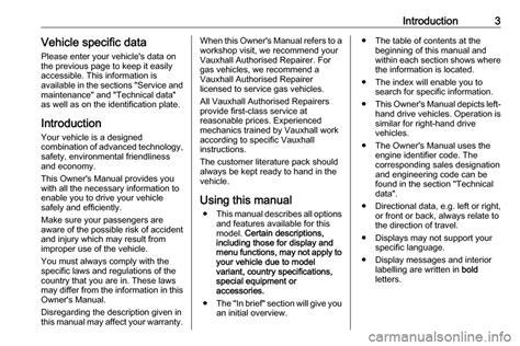 Owner Manual Zafira 2018
