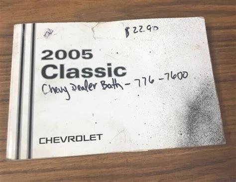 Owners Manual 2005 Malibu Classic