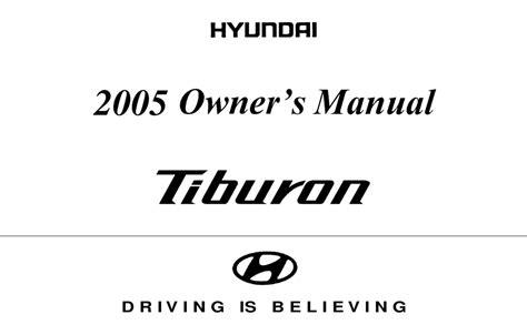 Owners Manual For 2017 Hyundai Tiburon