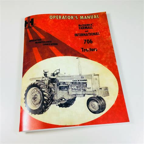 Owners Manual For 706 Farmall