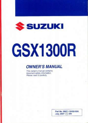 Owners Manual For A Hayabusa