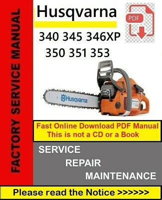 Owners Manual For A Husqvarna 350 Chainsaw