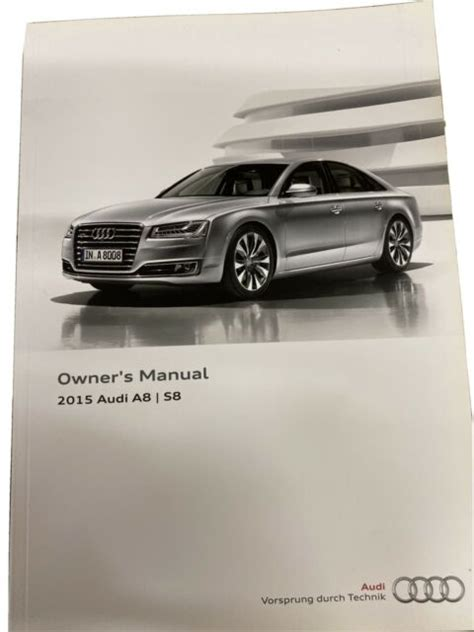 Owners Manual For Audi A8 2015
