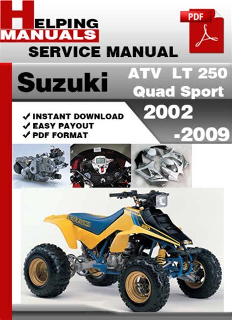 Owners Manual For Suzuki Quadrunner