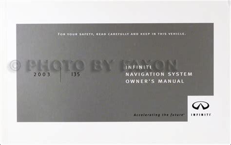 Owners Manual Infiniti I35 2003