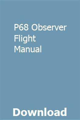 P68 Observer Flight Manual