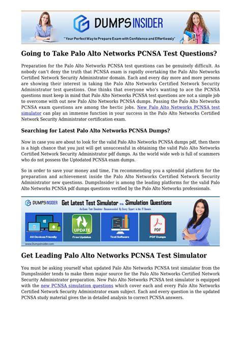 PCNSA PDF Testsoftware
