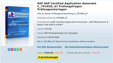 PDF C_TPLM30_67 VCE