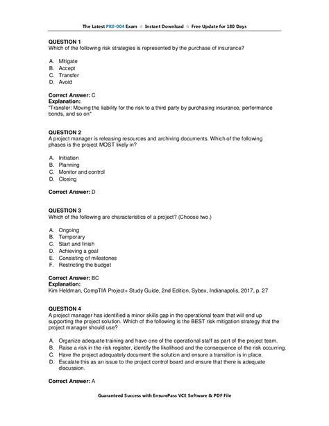 PK0-004 Exam Questions Vce