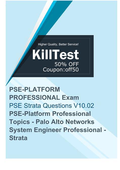 PSE-Strata Online Tests