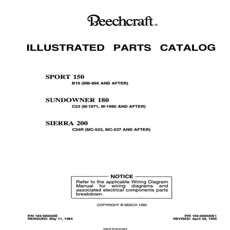 Pa 34 200 Seneca Ipc Parts Manual Pc 753 816