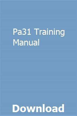 Pa31 Training Manual