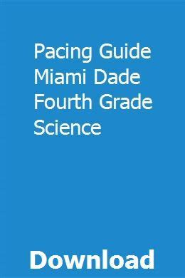 Pacing Guide Miami Dade Fourth Grade Science