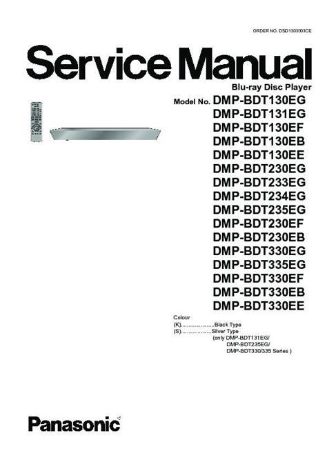 Panasonic Dmp Bdt330 Service Manual Repair Guide