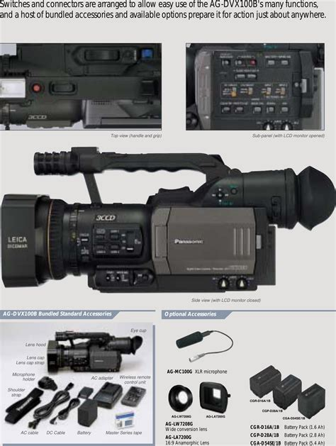 Panasonic Dvx100b Manual