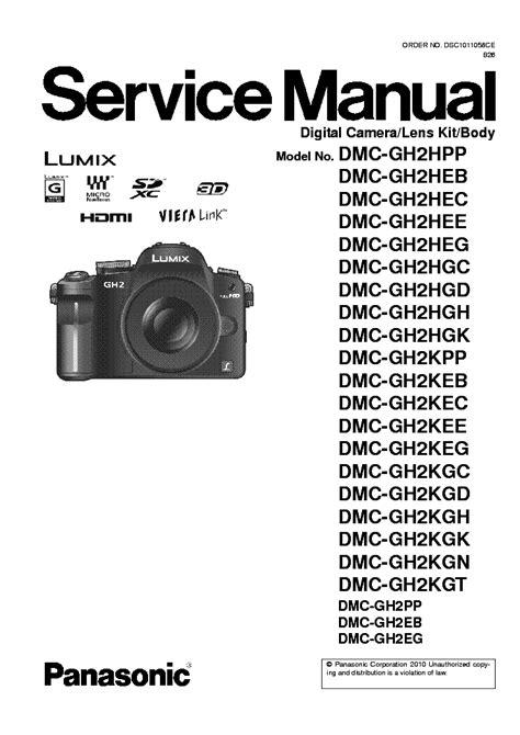 Panasonic Gh2 Manual