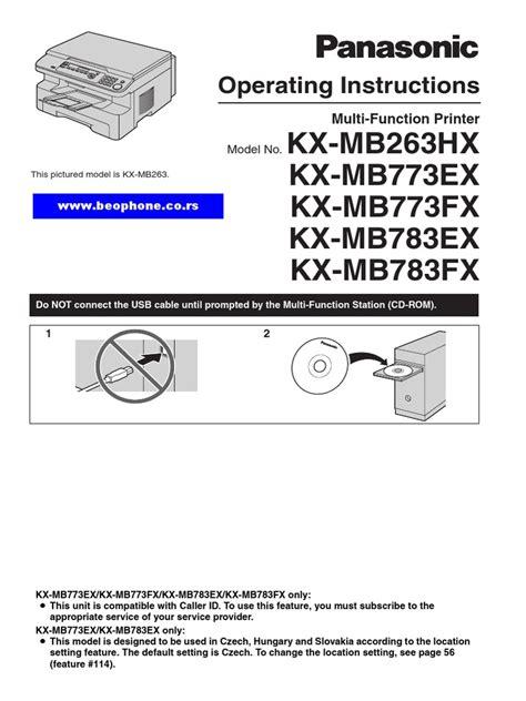 Panasonic Kx Mb773ex Kx Mb783ex Service Manual