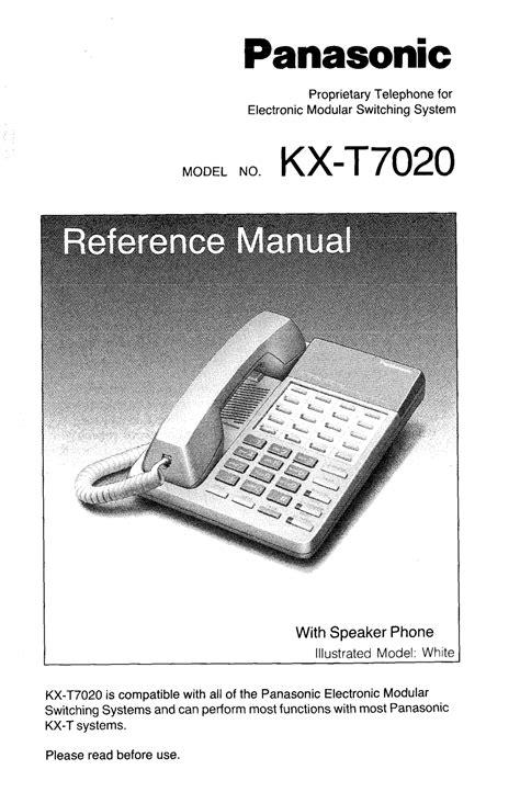 Panasonic Kx T7020 User Manual