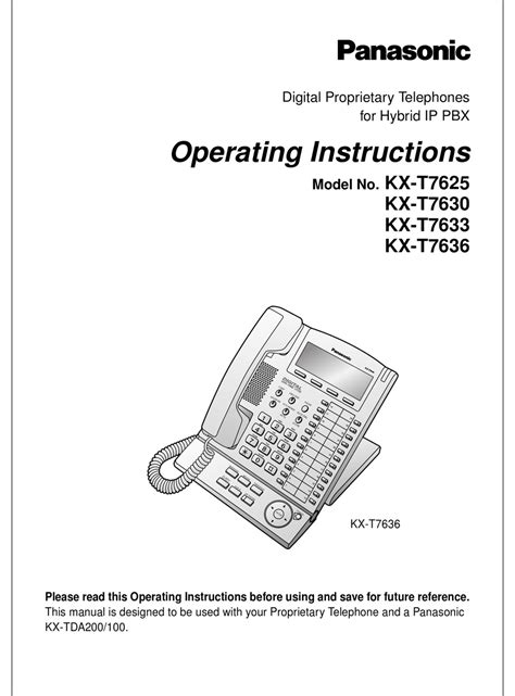 Panasonic Kx T7636 User Guide