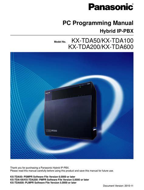 Panasonic Kx Tda50 Programming Manual