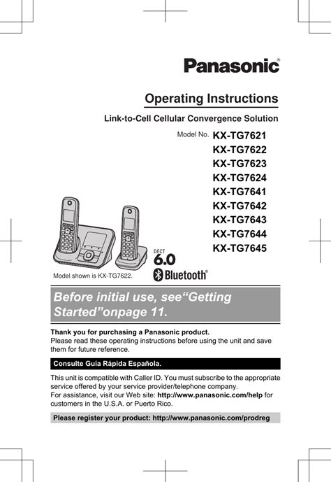 Panasonic Phone Users Manual