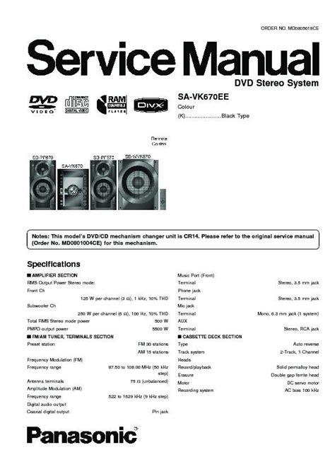 Panasonic Sc Vk 670 Servis Manual