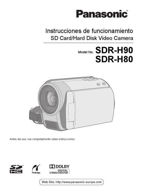 Panasonic Sdr H80 Manual