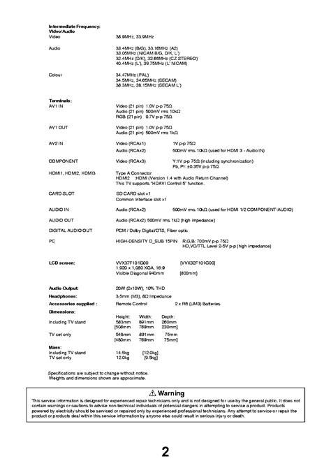 Panasonic Tx L37e3e L32e3e Service Manual Repair Guide