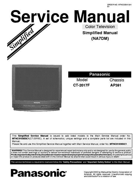 Panasonic Tx32dk1f Tv Service Manual