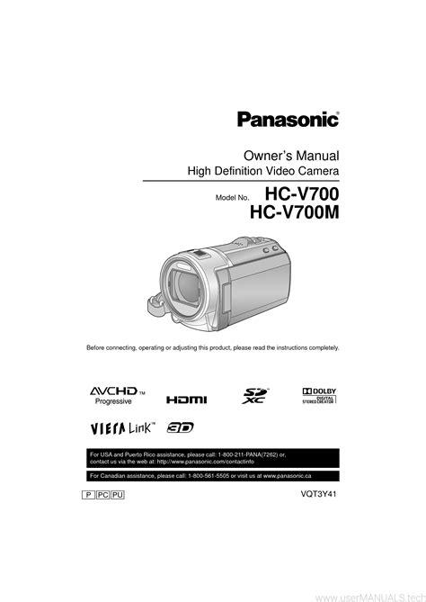 Panasonic V700 Manual