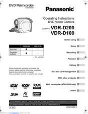 Panasonic Vdr D200 Manual