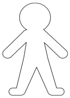 Paper Doll Boy Cutout Template