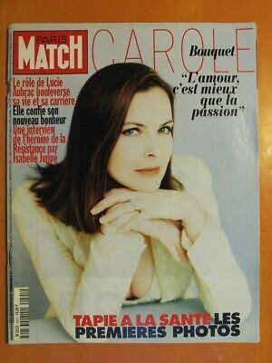Paris Match N 2491 Du 20 02 1997 Carol Bouquet Le Role De Lucie Aubrac Bouleversa Sa Vie Et Sa Carriere Interview