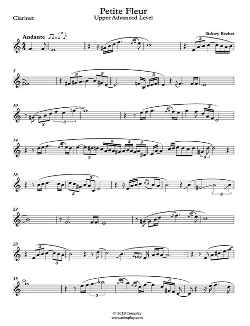 Partition Cd A La Clarinette