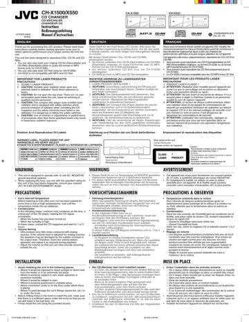Parts List Manual Jvc Ch X550 Cd Changer
