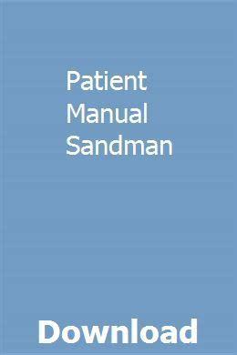 Patient Manual Sandman