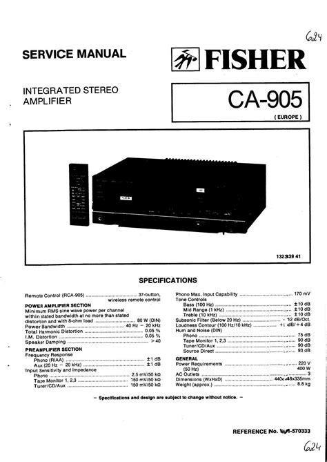 Pc 905 Service Manual
