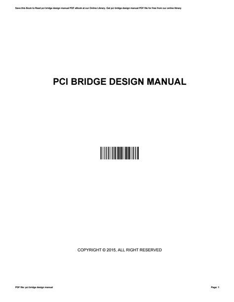 Pci Bridge Design Manual Bdm