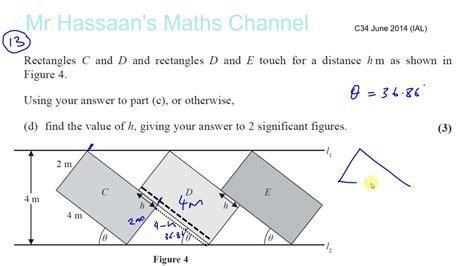 Pearson Edexcel Core Metahmatics C34 June 2014 Marking Scheme