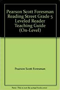 Pearson Scott Foresman Leveling Guide