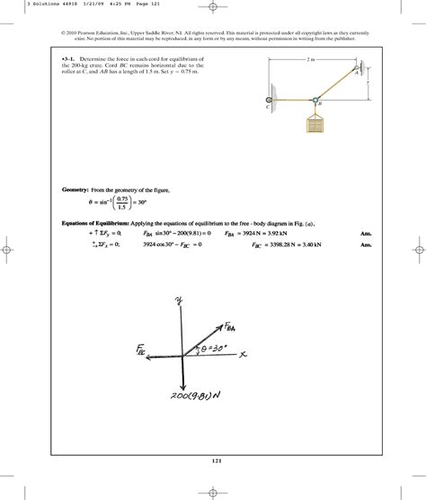 Pearson Solution Manual Engineering Mechanics Statics 13